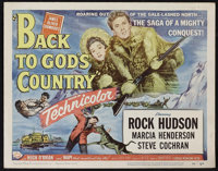 """Back to God's Country (Universal International, 1953). Title Lobby Card and Lobby Card (11"""" X 14""""). Action..."""