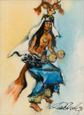 Paintings, PAUL DYCK (American, 1917-2006). The Deer Dancer. Oil on board. 7-1/4 x 5-1/4 inches (18.4 x 13.3 cm). Signed lower righ...