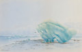 Western:20th Century, THEODORE J. RICHARDSON (American, 1855-1914). Muir Glacier. Watercolor on paper. 9 x 14 inches (22.9 x 35.6 cm) window. ...