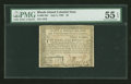 Colonial Notes:Rhode Island, Rhode Island July 2, 1780 $3 PMG About Uncirculated 55 EPQ....