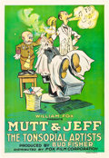 "Movie Posters:Animated, Mutt and Jeff in ""The Tonsorial Artists"" (Fox, 1918). One Sheet(27"" X 41"").. ..."
