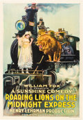 "Movie Posters:Comedy, Roaring Lions on the Midnight Express (Fox, 1918). One Sheet (27"" X41"").. ..."