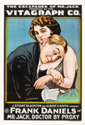 """Movie Posters:Comedy, Mr. Jack, Doctor by Proxy (Vitagraph, 1916). One Sheet (28"""" X42"""").. ..."""