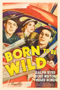 """Movie Posters:Action, Born to Be Wild (Republic, 1938). One Sheet (27"""" X 41"""").. ..."""