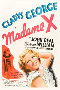 "Madame X (MGM, 1937). One Sheet (27"" X 41"") Style D"