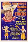 """Movie Posters:Western, Tim McCoy Ringling Brothers and Barnum and Bailey Circus Poster (mid-1930s). One Sheet (27"""" X 41"""").. ..."""