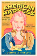 "Movie Posters:Drama, American Madness (Columbia, 1932). One Sheet (27"" X 41"") Style B....."