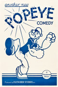 "Movie Posters:Animated, Popeye Stock Poster (Paramount, 1939). One Sheet (27"" X 41"").. ..."