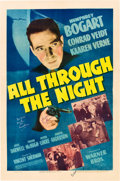 "Movie Posters:Action, All Through the Night (Warner Brothers, 1942). Autographed OneSheet (27"" X 41"").. ..."