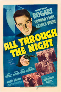 "All Through the Night (Warner Brothers, 1942). Autographed One Sheet (27"" X 41"")"