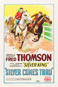 "Movie Posters:Western, Silver Comes Thru (FBO, 1927). One Sheet (27"" X 41"").. ..."
