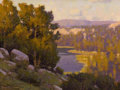 Western, DENNIS M. DOHENY (American, b. 1956). Rock Creek Basin, 2006. Oil on linen. 9 x 12 inches (22.9 x 30.5 cm). Signed and d...
