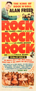 "Movie Posters:Rock and Roll, Rock, Rock, Rock (DCA, 1956). Insert (14"" X 36"").. ..."