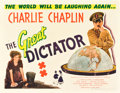 "Movie Posters:Comedy, The Great Dictator (United Artists, 1940). Half Sheet (22"" X 28"")....."