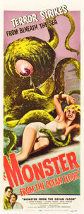 "Movie Posters:Science Fiction, Monster from the Ocean Floor (Lippert, 1954). Insert (14"" X 36"")....."