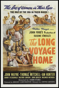 "The Long Voyage Home (United Artists, 1940). One Sheet (27"" X 41""). Drama"