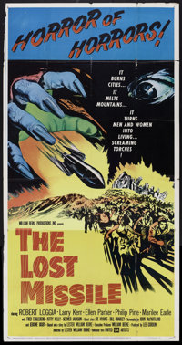 """The Lost Missile (United Artists, 1958). Three Sheet (41"""" X 81""""). Science Fiction"""