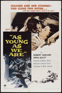 """As Young As We Are (Paramount, 1958). One Sheet (27"""" X 41""""). Romance"""