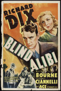 "Movie Posters:Crime, Blind Alibi (RKO, 1938). One Sheet (27"" X 41""). Crime.. ..."