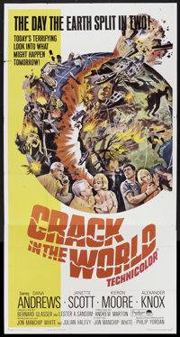 "Crack in the World (Paramount, 1965). Three Sheet (41"" X 81""). Science Fiction"