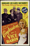 """Movie Posters:Crime, Confessions of a Vice Baron (Real Life Dramas, 1943). One Sheet(27"""" X 41""""). Crime.. ..."""