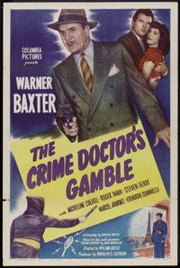 "The Crime Doctor's Gamble (Columbia, 1947). One Sheet (27"" X 41""). Mystery"