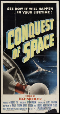 """Conquest of Space (Paramount, 1955). Three Sheet (41"""" X 81""""). Science Fiction"""