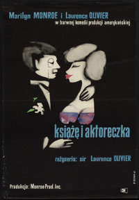 """The Prince and the Showgirl (CWF, 1962). Polish One Sheet (22.75"""" X 33""""). Romance"""