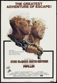 "Papillon (Allied Artists, 1973). One Sheet (27"" X 40""). Drama"