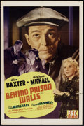 "Movie Posters:Mystery, Behind Prison Walls (PRC, 1943). One Sheet (27"" X 41""). Mystery....."