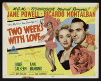 "Two Weeks With Love (MGM, 1950). Title Lobby Card and Lobby Cards (6) (11"" X 14""). Comedy. ... (Total: 7 Items..."