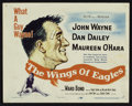 "Movie Posters:Drama, The Wings of Eagles Lot (MGM, 1957). Title Card and Lobby Cards (5)(11"" X 14""). Drama.. ... (Total: 6 Items)"