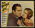 "Movie Posters:Comedy, This Reckless Age (Paramount, 1932). Lobby Card Set of 8 (11"" X14""). Comedy.. ... (Total: 8 Items)"