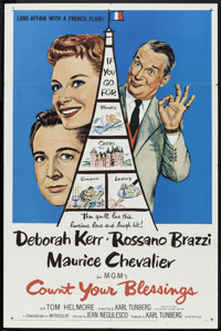 """Count Your Blessings (MGM, 1959). One Sheet (27"""" X 41""""). Comedy"""
