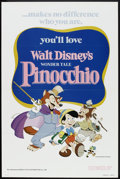 "Movie Posters:Animated, Pinocchio (Buena Vista, R-1978). One Sheet (27"" X 41""). Animated....."