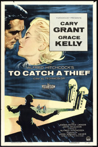 "To Catch a Thief (Paramount, 1955). One Sheet (27"" X 41""). Hitchcock"