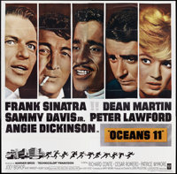 "Ocean's 11 (Warner Brothers, 1960). Six Sheet (81"" X 81""). Crime"
