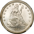 Seated Quarters, 1887 25C MS66 NGC. CAC....