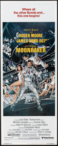"Movie Posters:James Bond, Moonraker (United Artists, 1979). Insert (14"" X 36""). James Bond....."