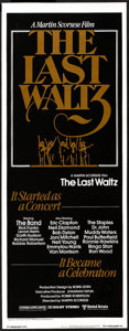 "Movie Posters:Rock and Roll, The Last Waltz (United Artists, 1978). Insert (14"" X 36""). Rock and Roll.. ..."