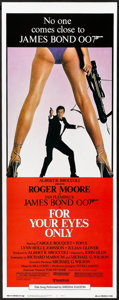 "Movie Posters:James Bond, For Your Eyes Only (United Artists, 1981). Insert (14"" X 36"").James Bond.. ..."