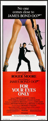 """For Your Eyes Only (United Artists, 1981). Insert (14"""" X 36""""). James Bond"""
