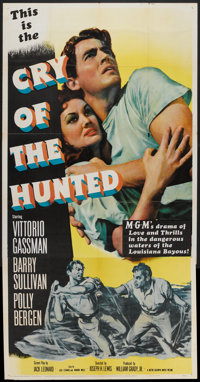 """Cry of the Hunted (MGM, 1953). Three Sheet (41"""" X 81""""). Action"""