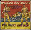 "Movie Posters:War, Run Silent, Run Deep (United Artists, 1958). Six Sheet (81"" X 81""). War.. ..."