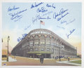 Autographs:Photos, Brooklyn Dodgers Multi-Signed Lithograph....