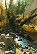 Western:Contemporary, OLEG STAVROWSKY (Russian/American, b. 1927). A FallenCypress. Oil on canvas. 46-1/2 x 32 inches (118.1 x 81.3 cm).Sign...