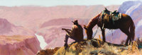OLEG STAVROWSKY (Russian/American, b. 1927) Ode to a Canyon Oil on canvas 20 x 50 inches (50.8 x