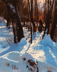 OLEG STAVROWSKY (Russian/American, b. 1927) Quiet White Oil on canvas 30 x 24 inches (76.2 x 61.0