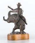 "Sculpture, BOB ""DADDY-O"" WADE (American, b. 1943). Daisy Belle, 1983. Bronze with patina. 11 x 7 x 12 inches (27.9 x 17.8 x 30.5 cm..."