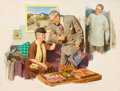 Mainstream Illustration, HAROLD ANDERSON (American, 1894-1973). At the Doctor'sOffice. Oil on canvas. 34 x 45 in.. Signed lower right. ...